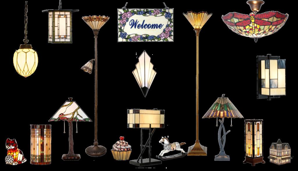 Overzicht diverse lampen